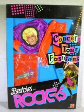 NIB BARBIE DOLL 1986 AND THE ROCKERS CONCERT TOUR FASHIONS KEN