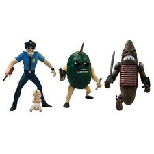 "AXE COP - 4"" Series 1 Action Figure Set (3) Mezco #NEW"