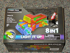 Truck Power Block Laser Peg Light up Construction toy Block 8 in 1