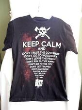 Keep Calm And Dont Trust The Governor The Walking Dead Mens Black Tshirt S (O)