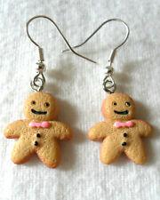 Dangle earrings - 20mm cute gingerbread men