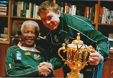 John SMIT Hand Signed Autograph 12x8 Photo AFTAL COA with Nelson Mandela RARE