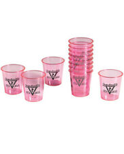 Bachelorette Party Supplies Wedding Bride Shot Glass Pack 12 Pink Black Glasses