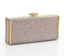 Judith Leiber Pink Iridescent Swarovski Crystal Small Rectangle Minaudiere