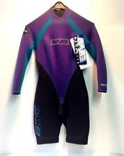 Bare Women's Shorty Wetsuit Black Purple Turquoise Long Sleeve Sz 9-10 NEW