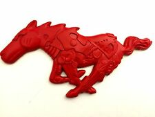 x1 Red Ford Mustang Mechanical Running Horse - Pony - Stallion Emblem / Badge