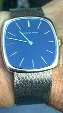 Mens Audemars Piguet 18kt White Gold Watch, Dress Style Case Blue Dial