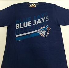 Majestic MLB Cooperstown Collection TORONTO BLUE JAYS Vintage T-Shirt Sz L - NWT