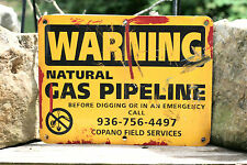 GAS SIGN WARNING Natural Gas Pipeline COPANO FIELD SERVICES