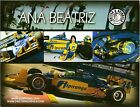 2011 ANA BEATRIZ signed PHOTO CARD POSTCARD INDIANAPOLIS 500 IZOD INDY CAR wCOA