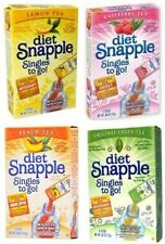 12 boxes Diet Snapple Peach/Raspberry/Lemon/Green Tea Iced Tea total 72 Packets