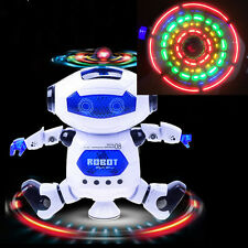 360° Rotation Electric Robot Dancing Toy Children Kids Gift with Light & Music