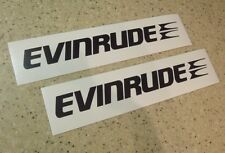 "Evinrude Vintage Outboard Motor Decals 2-PAK 18"" FREE SHIP + FREE Fish Decal"