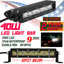 9inch 40W Cree LED Work Light Bar 12V 24V Spot Offroad Tractor ATV 4WD Fog light