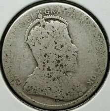 1905 Canada Quarter .925 Silver Coin King Edward VII 800,000 Minted KM#11 L