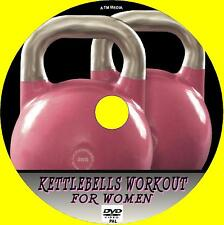 KETTLEBELLS WORKOUT FOR GIRLS EASY TO FOLLOW HEALTH & FITNESS GUIDE NEW  DVD