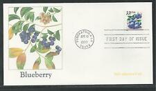 # 3302-3305 BERRIES: Blackberries, Raspberries 1999 FLEETWOOD First Day Cover