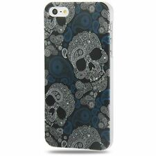 BUMPER CUSTODIA COVER X APPLE IPHONE 5 fashion teschio Skull Crystal case novità