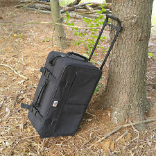 American Airlines Luggage Wheeled Carry-On Bag - Metal Logo, BLack, Ascot Travel