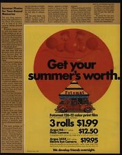 1972 FOTOMAT - Retro 1970's One-Day Film Processing Drive-Up Kiosk VINTAGE AD