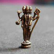 Thai Amulets Brass Statue Lord Shiva Hindu God of Love Success wish Charm Lucky