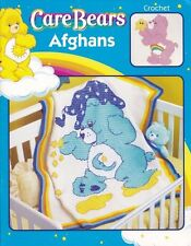 CARE BEARS AFGHANS-6 Patterns-Crochet/Cross Stitch Blankets Craft Book #3789