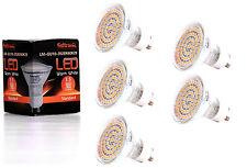 5X GU10 LED Lampe von Seitronic mit 3,5 Watt, 300LM und 60 LEDs Warm weiß 2900K