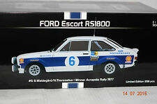 Ford Escort RS 1800 Winner Akropolis 1977 #6 1:18 Sun Star neu & OVP 4495