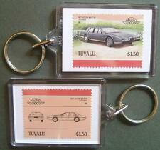 1977 Aston Martin Lagonda Car Stamp Keyring (Auto 100 Automobile)