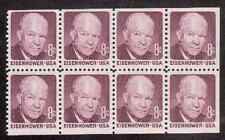 Scott #1395...8 Cent...10 Bk Pane of 8....Eisenhower....80 Stamps