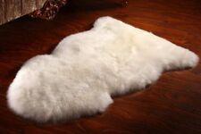 Natural White 100 x 60 cm Genuine Sheepskin Rug