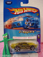 2005 Hot wheels '69 CHEVELLE 1969 #054/54∞yellow; pr5∞#4 FE X-Raycers First Ed