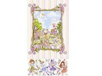 """QT Loralie Very Fairy 21331 ZB Large Panel 24"""" Cotton Fabric FREE US SHIPPING"""
