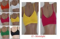 Damen Sport BH Bustier Soft-Einlage Fitness mit träger Push up Neu