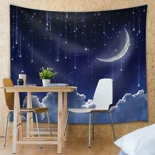 Wall26 - Peaceful Night Time Sky With a Bed of Clouds - Fabric Tapestry - 51x60