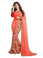 Bollywood Ethnic Indian Designer Party Saree Sari with Blouse