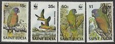 BIRDS :1987  ST LUCIA Parrots/WWF  set SG969-72 unmounted mint