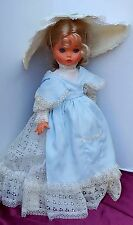 "VNTG FURGA MOD DEP. 2 DOLL ITALY BLONDE HAIR GORGEOUS SLEEPY BLUE EYES 17"" LACE"