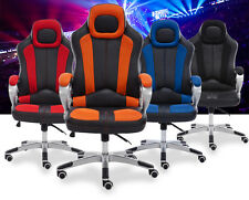 Racing Office Chair  PU Leather Swivel Computer Desk High Back Seat
