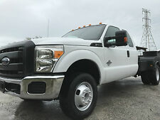 2012 Ford F-350 4X4 DRW SUPERCAB FLATBED 6.7 LITER DIESEL