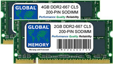6 GB 4GB+2 GB DDR2 667MHz PC2-5300 200 PINES SODIMM INTEL IMAC MID 2007