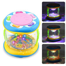 New Musical Kids Drum Play Baby Child Colorful Lights Music Educational Toy Gift