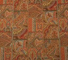 P KAUFMANN PAISLEY TILE GINGER D3017 FLORAL BLUE RED YELLOW FABRIC BY THE YARD