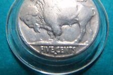 U.S. 1937-D  BUFFALO/INDIAN  HEAD NICKEL, Denver Mint, Very Fine in Capsule