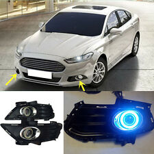 For Ford Fusion 2013-2016 Front Bumper Front Fog Light Grille Cover Angel eyes