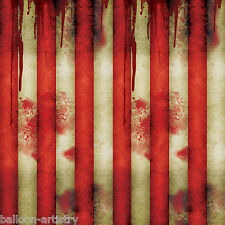 Halloween CREEPY CARNIVAL Circus Party Scene Setter Room Roll - STRIPED TENT
