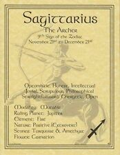 SAGITTARIUS POSTER  Wicca Pagan Witch Witchcraft Goth BOOK OF SHADOWS Astrology