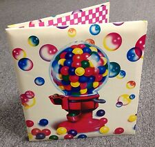 NOS NEW 1988 Lisa Frank Notebook Paper Binder  GUMBALL MACHINE MINT Stickers