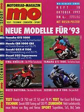 Mo 10/92 1992 HONDA CB 750 MOTO GUZZI DAYTONA 1000 segale cbr600 jingushi ECO