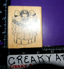 ANGEL DOLL FLOWERS RUBBER STAMP DELAFIELD RETIRED G704